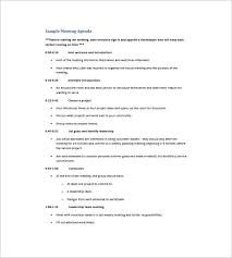 Resume Examples For Work 8 Agenda Planner Templates U2013 Free Sample Example Format