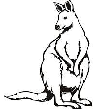 coloring pages animals simple kangaroo coloring pages to print