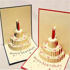 3d birthday cake pop up card with envelope set p u0026d
