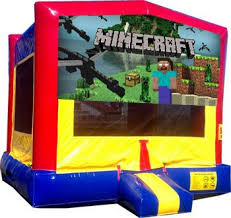 bounce house rentals houston c minecraft moonwalk moonwalks houston rentals