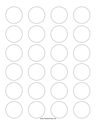 this printable paper has 24 1 5 inch circles for making labels or