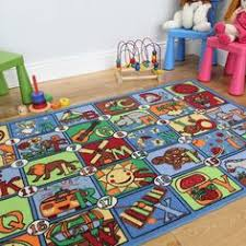 Kids Rugs Sale Girls Bright Pink Playtime Fun Kids Hopscotch Rugs 100cm X 165cm