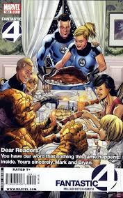 comic books in norman rockwell thanksgiving dinner cover