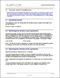service level agreement sla template instant download
