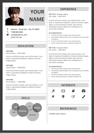 free resumes templates for microsoft word fitzroy modern border resume template