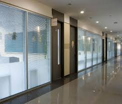 Glass Dividers Interior Design by Comerial Blind Office High Partition Single Glass Double Glass