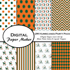 party supplies miami u of miami hurricanes party pack to use for scrapbooking clipart