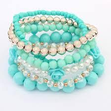 bracelet elastic images Multilayer elastic bracelets 3 different variants colors jpg