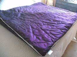 King Size Quilted Bedspreads King Size Quilted Bedspread Purple Colour Rarely Used And In