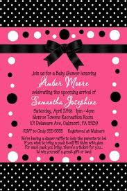 polka dots invitations hot pink black polka dot baby shower invitations no photo