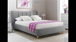 sienna grey upholstered bed frame youtube