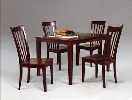 Espresso Dining Room Set by Modern Mission Style Espresso Dining Table With Four Chairs