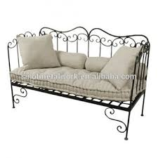 decorative home and garden furniture wrought iron indoor bench