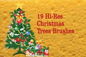 50 free christmas trees and decoration brushes for photoshop