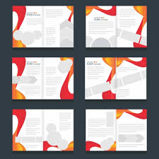 brochure templates set of abstract forms vector free download