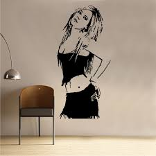 celebrity wall stickers shop home avril lavigne decal vinyl wall sticker cel83