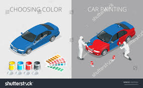 auto mechanic professional painting car paint stock illustration