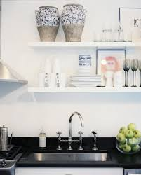 Wall Mounted Kitchen Shelves by Wall Mounted Kitchen Shelves Modern Kitchen Decor With Open Wall