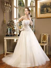 timeless wedding dresses strapless tulle a line timeless wedding dress with beaded bodice