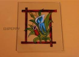 how to make a gorgeous flower glass painting online 123peppy com