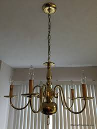 Brass Chandelier Makeover Brass Chandelier Makeover Diy