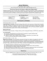 mechanical resume fashionable design maintenance mechanic resume 13 resume template