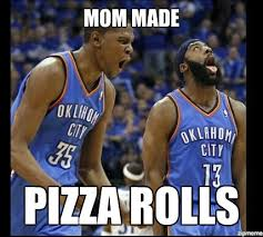 Okc Memes - does anyone know the joke behind okc and pizza rolls nba