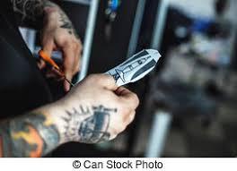 stock photography of sketch of tattoo art clown joker csp4811401