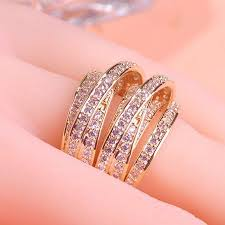 buy gold rings images Champagne brand bridal jewelry unusual women wedding rings noble jpg