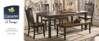 custom dining room table canadel custom dining furniture at darvin furniture orland park