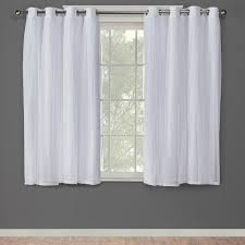 Winter Window Curtains Catarina Winter White Layered Solid Blackout And Sheer Grommet Top