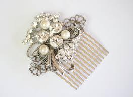 vintage wedding jewelry hair comb wedding handmade with vintage jewelry jeweled hair