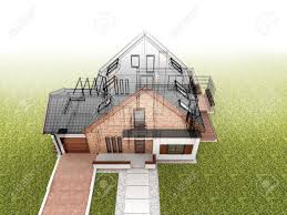 classic house design progress architectural drawing and