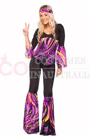 Dancer Halloween Costumes 1960s 70s Retro Hippie Disco Fancy Dress