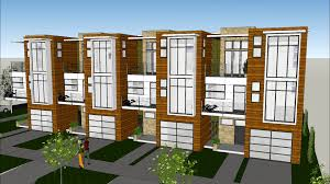Modern Row House by Urban Townhouse Rowhouse Project Avi Youtube