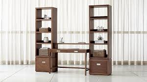 crate and barrel file cabinet aspect walnut modular office with 2 file cabinets reviews crate