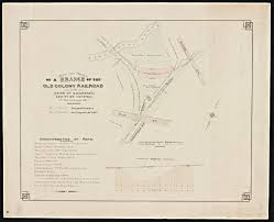 Massachusetts Colony Map by Map And Profile Of A Branch Of The Old Colony R