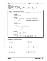 multiply and divide rational expressions worksheet the best and