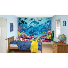 dulux bedroom in a box sea adventure wall mural u0026 paint kit