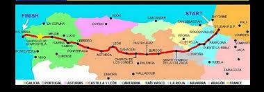Lourdes France Map by Graphic Diagram Of The Camino Frances Route Camino De Santiago Forum