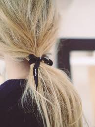 ribbon ponytail ponytail with black chanel ribbon hair styles to