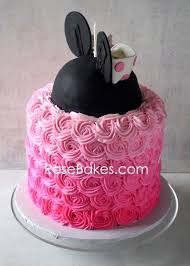 minnie mouse cake pink ombre minnie mouse cake bakes