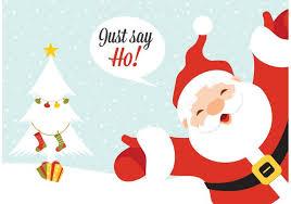 free vector santa claus greeting card free vector