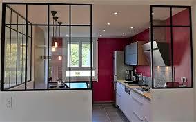verriere interieur cuisine cuisine poignees profil blanc et verriere interieure