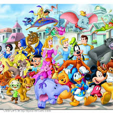 disney characters all in one cool display pictures