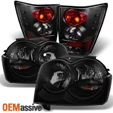 jeep commander black headlights 2005 2006 jeep grand black smoked headlights lights