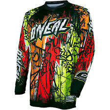 childs motocross gear new oneal 2018 mx youth element vandal black neon fluro kids