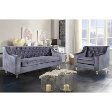 Dynamic Home Decor Braintree Ma Us 02184 Chic Home Fsa2579 Dylan Sofa In Tufted Grey Velvet On Round