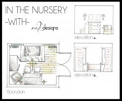 nursery drawings floor plans and elevations by interior designer