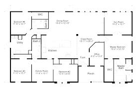 home floor plan ideas 5 bedroom mobile home floor plans corglife